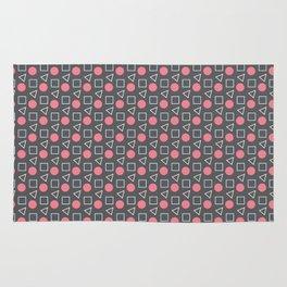 Geo Sprinkles Pink (Black Sesame) Rug