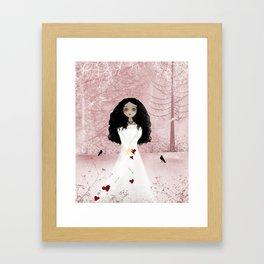 My Heart Melancholy Girl Valentine Art Print Framed Art Print