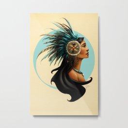 Tribal Princess Pocahontas Metal Print