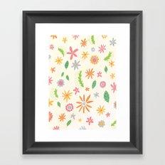 Colourful Daisies Framed Art Print