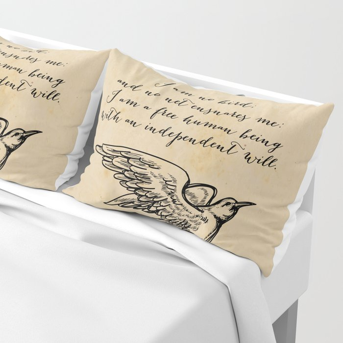 Jane Eyre - No bird - Bronte Pillow Sham