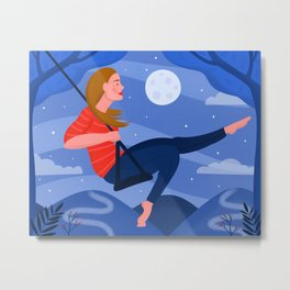 Swinging on a Star Metal Print