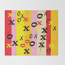 X's and O's Throw Blanket
