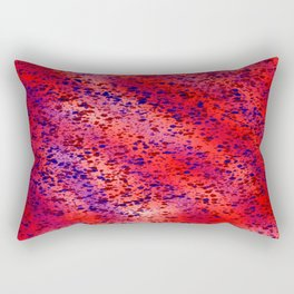 Red and Blue Splatter Design Rectangular Pillow