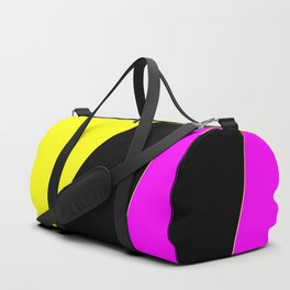 Angelica . Lemon , raspberry , black Duffle Bag