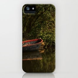 Dinghy On The Oxford Canal iPhone Case