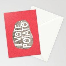 I VOTE POTATO Stationery Cards
