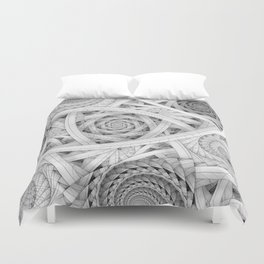 GET LOST - Black and White Spiral Duvet Cover
