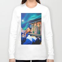 new orleans Long Sleeve T-shirts featuring Planet of New Orleans by John Turck