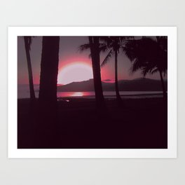 Cairns Sunrise in Red Art Print