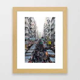 Fa Yeun St., Hong Kong Framed Art Print