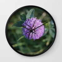 clover Wall Clocks featuring Clover by Bud M