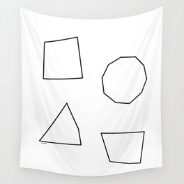 Let's Love Our Shapes! no.2 - Geometric Minimalism Wall Tapestry