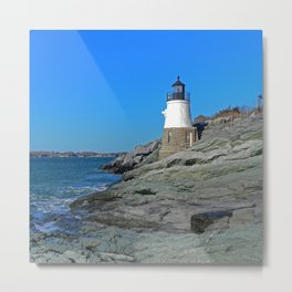 Lighthouse in Newport, RI Metal Print