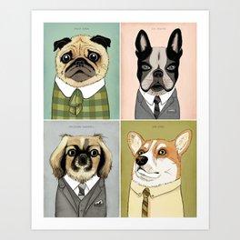 Mad Men Dogs 2 Art Print