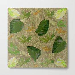 Camouflage Green Metal Print