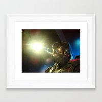 master chief Framed Art Prints featuring Master Chief by Yajaira Gomez
