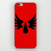 warhammer iPhone & iPod Skins featuring Warhammer 40k Blood Angels Minimalist Poster by Milos Cakovan