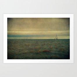 I'm Sailing Away Art Print