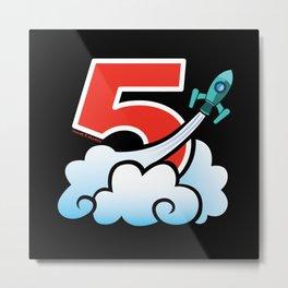 Rocket 5 Studios (Logo B) Metal Print