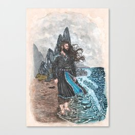 Njord Lord of the tides Canvas Print