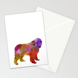Newfoundland dog in watercolor Stationery Cards