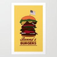Stranger Things - Benny's Burgers Art Print