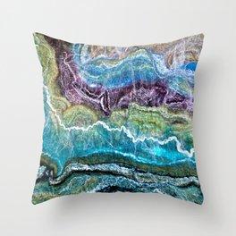 Sheer Fashion - Emerald I Throw Pillow