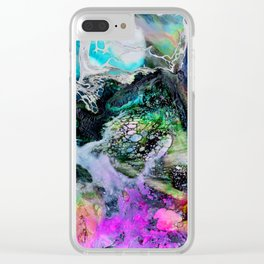 Abstract Melt III Clear iPhone Case