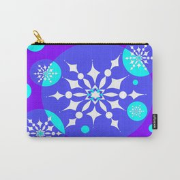 A Winter Snowy Design with Pretty Snowflakes Carry-All Pouch