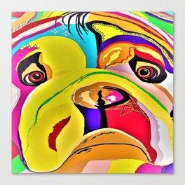 Bulldog Close-up Canvas Print