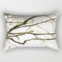 Redpoll birds in aspen tree Rectangular Pillow