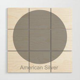 American Silver Wood Wall Art
