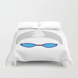 Swim Cap and Goggles Duvet Cover