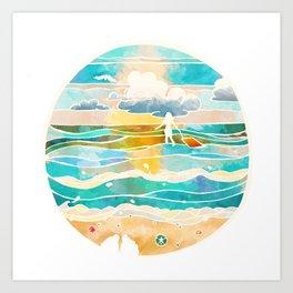 Bittersweet waves Art Print