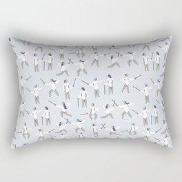 Fencing Rectangular Pillow