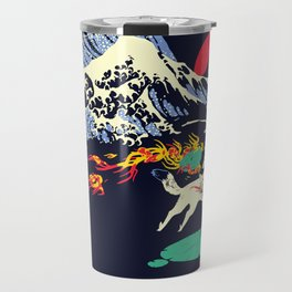 The Great Wave off Oni Island Travel Mug
