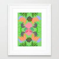 oasis Framed Art Prints featuring Oasis by Ingrid Castile