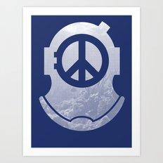 Peacediver II Art Print