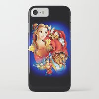 beauty and the beast iPhone & iPod Cases featuring Beauty And The Beast by neutrone