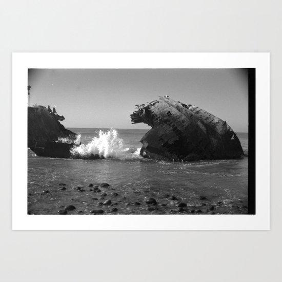 Shipwreck 2 Art Print