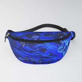 Gear Head:Flaming Blue Skull Fanny Pack
