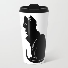 Life With Black Cats Vector Travel Mug