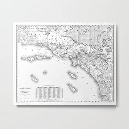 Southern California Map Metal Print