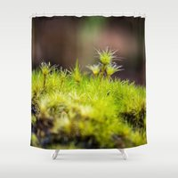 moss Shower Curtains featuring Moss. by Michelle McConnell
