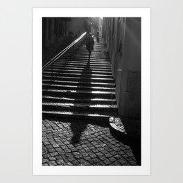 Lisbon Shadow Art Print
