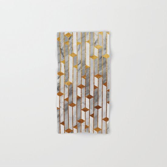 Marble skyscrapers Hand & Bath Towel