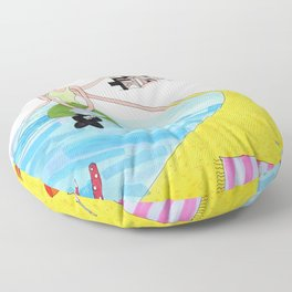 The Sand and The Sea Floor Pillow