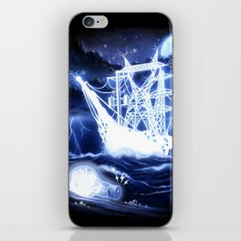 """""""High-Voltage Ghost Ship"""" iPhone Skin"""