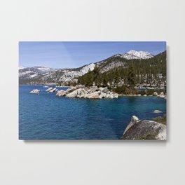 Winter in Sand Harbor. Lake Tahoe. Nevada. USA Metal Print